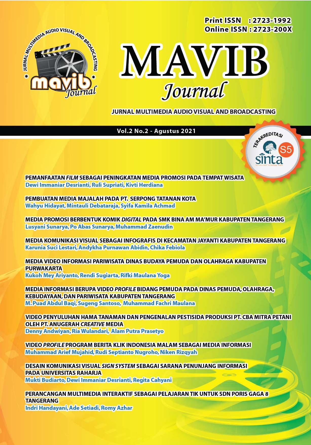 MAVIB Journal Vol. 2 No. 2 - Agustus 2021 MAVIBJournal#2021